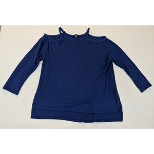 Rogue Royal Blue Cold Shoulder Sweater